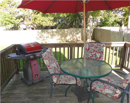 South Yarmouth Cape Cod vacation rental - Deck area with gas grill
