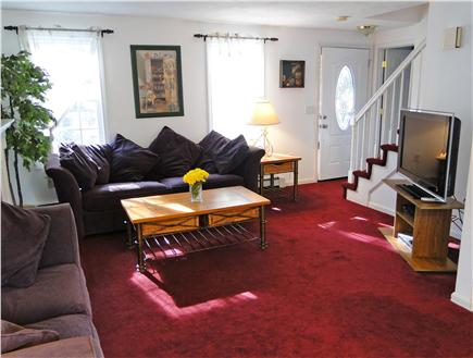 South Yarmouth Cape Cod vacation rental - Living room with two couches and flat screen TV