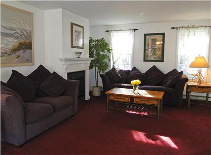 South Yarmouth Cape Cod vacation rental - Comfortable living room with slider to deck