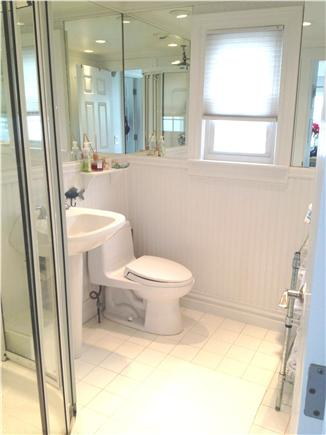 East Sandwich Cape Cod vacation rental - Bath with inside shower + outside Cape Cod Shower