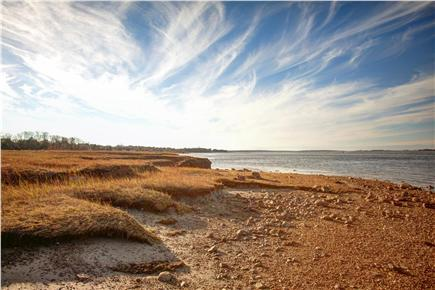 Barnstable Cape Cod vacation rental - Private beach at low tide.  10-12 ft difference between low/high