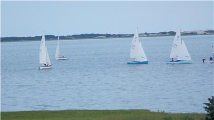 Barnstable Cape Cod vacation rental - Viewing a sailboat race from main floor of house during high tide