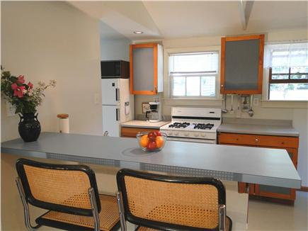 North Eastham Cape Cod vacation rental - Galley kitchen with breakfast bar