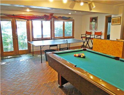 Mashpee Cape Cod vacation rental - Downstairs game room, ping pong, pool tables & 30+ board games!