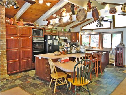 Mashpee Cape Cod vacation rental - Fully equipped gourmet kitchen 2 bk brl convec ovens, 27' refrig