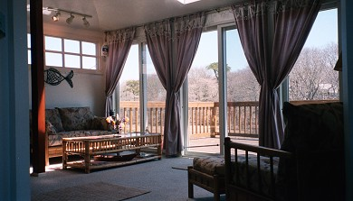 West Yarmouth Cape Cod vacation rental - Lovely views from peaceful sun room w/TV & large, sunny deck.