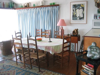 Provincetown Cape Cod vacation rental - Dining area with view of the bay.