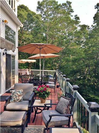 Brewster Cape Cod vacation rental - Deck seating area, + 2 large tables