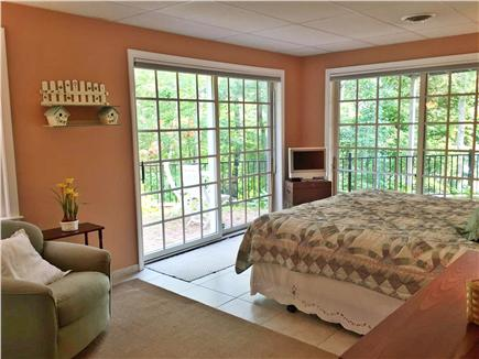 Brewster Cape Cod vacation rental - Downstairs King bedroom, private patio