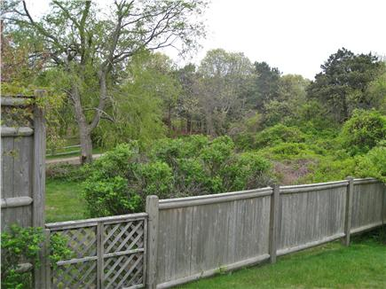 Chatham Cape Cod vacation rental - Private Fenced Back Yard & Peaceful Sanctuary Beyond