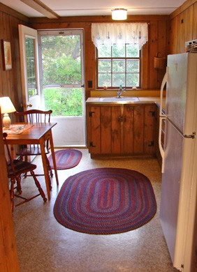 Brewster Cape Cod vacation rental - Sunny kitchen with all appliances,microwave and table for two