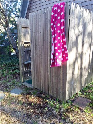 S. Chatham Cape Cod vacation rental - Outdoor shower with hot water great after swim