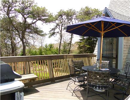 S. Chatham Cape Cod vacation rental - Sunny private deck- enjoy breakfast to sundowners (all day)