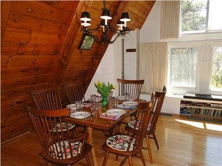 S. Chatham Cape Cod vacation rental - Dining area with great view to woods and water