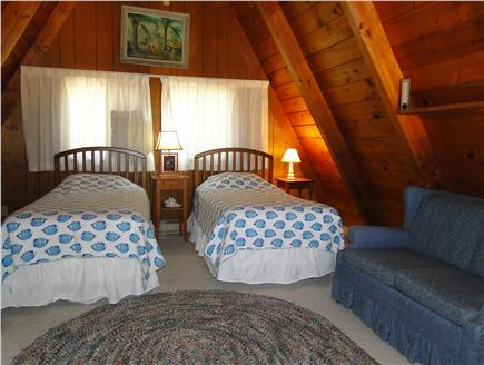 S. Chatham Cape Cod vacation rental - upper level twin beds (or king bed), adjacent to 1/2 bath