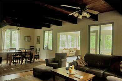 Barnstable Village  Cape Cod vacation rental - Spacious post and beam living-dining room opens to sunroom