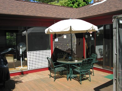 Chatham Cape Cod vacation rental - Sunny, south facing deck with grill, small sun room
