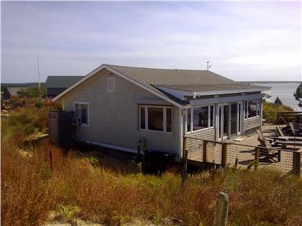 Wellfleet Cape Cod vacation rental - View of the house & deck overlooking the water
