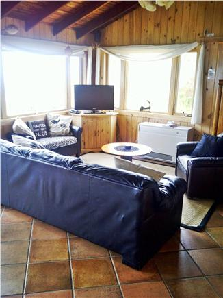 Wellfleet Cape Cod vacation rental - Living room area- Every room has a view