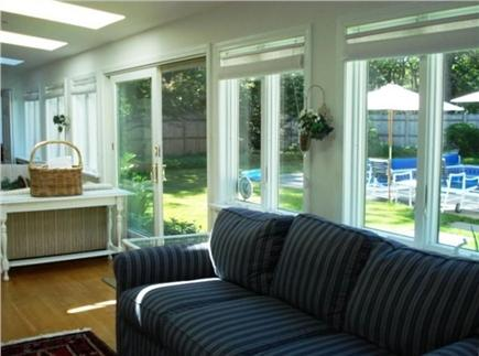 West Yarmouth Cape Cod vacation rental - Sunroom with French doors to the pool and yard