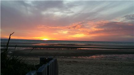 Eastham Cape Cod vacation rental - Sunset at Kingsbury beach just 1/4 mile down our street!