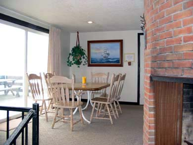 West Dennis Cape Cod vacation rental - Fireplace and Dining Area