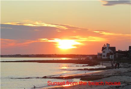 West Dennis Cape Cod vacation rental - Beautiful sunset views on the beach