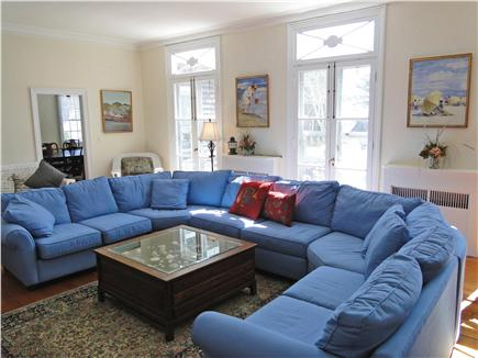 Chatham Cape Cod vacation rental - Bright, sunny, spacious living room with windows facing deck