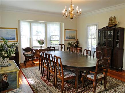 Chatham Cape Cod vacation rental - Large dining room with bay window facing water