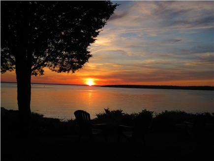 North Falmouth (Megansett) Cape Cod vacation rental - Many lawn chairs are ready for each evening's viewing