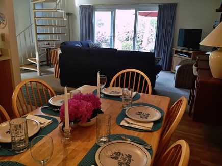 Brewster Cape Cod vacation rental - Dining area with dimmer provides atmosphere