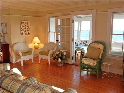 West Yarmouth Cape Cod vacation rental - Bright living room with ocean view