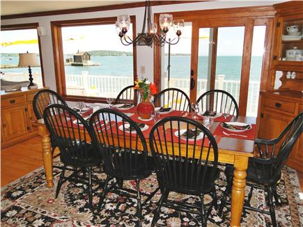 Kingston MA vacation rental - Enjoy your meals while overlooking the ocean