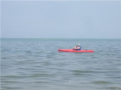Barnstable, Cummaquid Cape Cod vacation rental - Kayaking in the bay at high tide