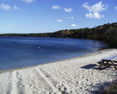 Harwich Cape Cod vacation rental - Private beach on Long Pond