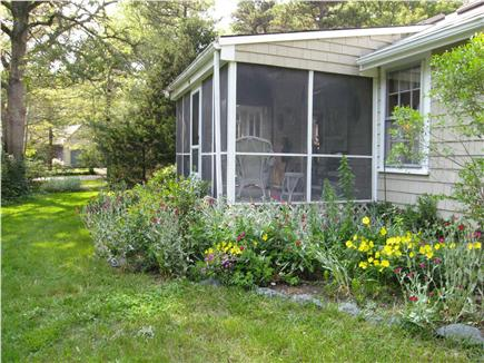 East Orleans Cape Cod vacation rental - Aerial View -Screened-in porch, A Guest Favorite- 4 Wicker Rocker