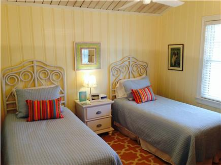Wellfleet Harbor Cape Cod vacation rental - Twin Bedroom With Cathedral Ceiling & Morning Sun