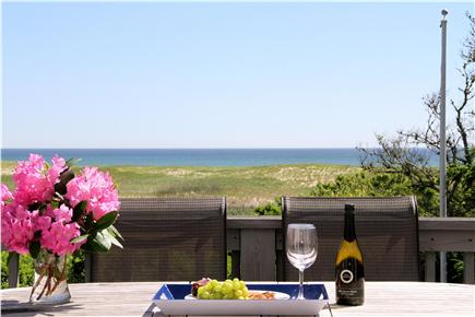 East Orleans Cape Cod vacation rental - Listen to waves of the atlantic ocean as you relax on the deck