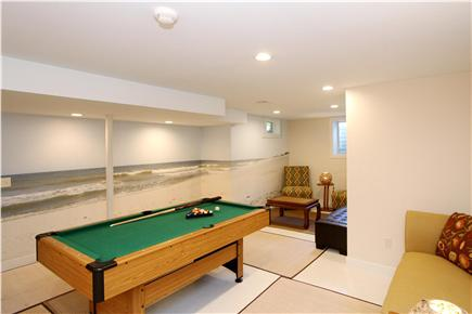 East Orleans Cape Cod vacation rental - Game Room - 22'x14'- Pool table and large TV & DVD.