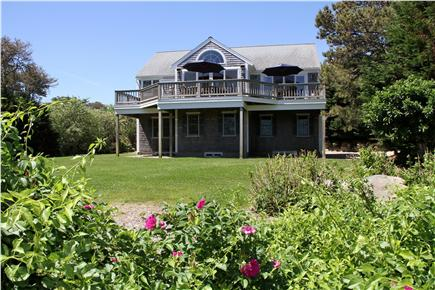 East Orleans Cape Cod vacation rental - The Luxury home with plenty of grass area for children to play.
