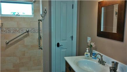 New Seabury/Popponesset New Seabury vacation rental - One of 3 bathrooms--xtra large tiled shower with linen closet