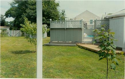 Hyannis Cape Cod vacation rental - West side of back yard
