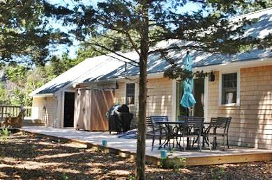 Great Island, West Yarmouth Cape Cod vacation rental - Back of house with deck