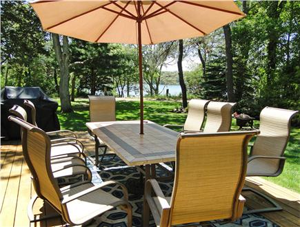 South Dennis Cape Cod vacation rental - Large sunny deck with new grill, water view