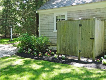 South Dennis Cape Cod vacation rental - Lovely landscaped yard, spacious outdoor shower