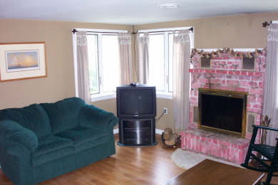 Centerville Centerville vacation rental - Downstairs family room with fireplace & TV overlooks lake