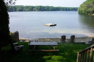 Centerville Centerville vacation rental - Lake and beach from lower deck (float no longer available)