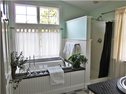 Brewster Cape Cod vacation rental - Master bath with whirlpool and separate shower