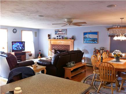 Bass River / South Yarmouth Cape Cod vacation rental - Surround sound room to 8 seat dining room