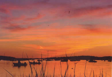 Wellfleet Cape Cod vacation rental - Brilliant sunset